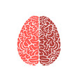 human brain shape education icon flat design vector image