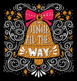 Jingle all the way Christmas hand lettering on vector image vector image