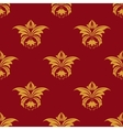 maroon and yellow seamless floral pattern vector image vector image