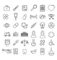medical icons set line vector image vector image