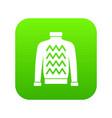 men sweater icon digital green vector image vector image
