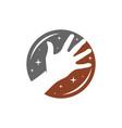 modern human hand logo vector image