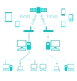 Network Flow Diagram vector image