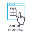 online shopping thin line icon sign symbol vector image vector image