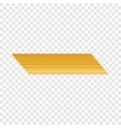 penne rigate pasta icon realistic style vector image vector image