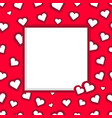 photo frame of hearts for valentines day vector image vector image