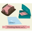 Print icons set2 vector image vector image