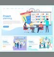 project planning presentation management vector image