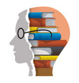 reader male head vector image vector image