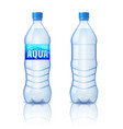 realistic plastic bottle with mineral water vector image vector image