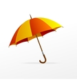 red and yellow umbrella isolated vector image vector image