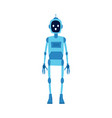 robot futuristic technology creature icon flat vector image
