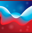russia flag in the form of wave vector image