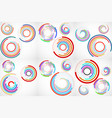 set abstract backgrounds colorful circles vector image vector image