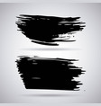 set of artistic black paint hand made creative ink vector image vector image