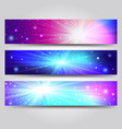 set of banner with light rays vector image vector image