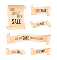 set of cream banners vector image vector image