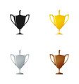 set of cups on a white background vector image
