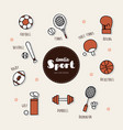 set of sport icons doodle vector image vector image