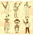 Skeletons - gangsters set Vinyl-ready vector image vector image