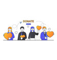 social care and charity concept vector image