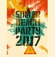 summer beach party typographic grunge poster