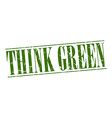 think green green grunge vintage stamp isolated on vector image vector image