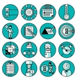 Time Management Icons vector image vector image