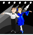 tiny dancers on the stage vector image vector image