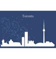 Toronto city skyline on blue background vector image vector image