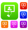 touch screen tablet click set collection vector image vector image