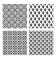 tribal seamless black pattern set vector image vector image