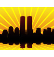 twin towers silhouettes vector image vector image