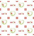 valentines day seamless pattern inscription love vector image