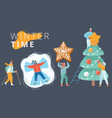winter people set vector image vector image