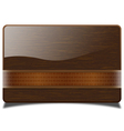 Wooden card vector image vector image