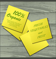 yellow stickers on table vector image vector image
