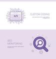 custom coding and seo monitoring template web vector image