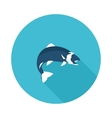 flat icon fish vector image