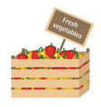 fresh vegetables in a box vector image