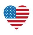 heart shape united states badge icon vector image