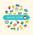 E-commerce Shopping Symbols vector image