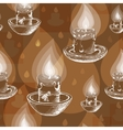 Hand drawn white silhouette candles vector image