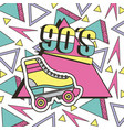 90s roller skate memphis geometric abstract vector image