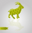 Abstract triangular goat vector image vector image