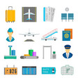 airport service set vector image vector image