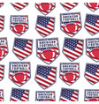 american football patch pattern design with usa vector image vector image