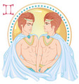 astrological sign gemini vector image vector image
