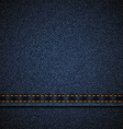 Background of blue denim vector image