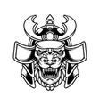 beast tiger samurai warrior silhouette vector image vector image